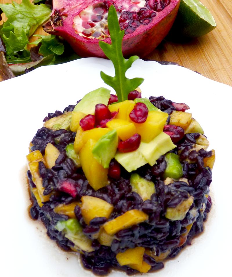 Salade de riz vénéré à la Mangue, grenade et Avocat