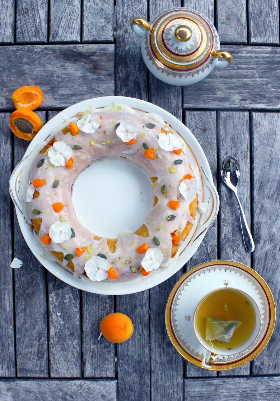 Couronne à l'abricot et au gingembre frais