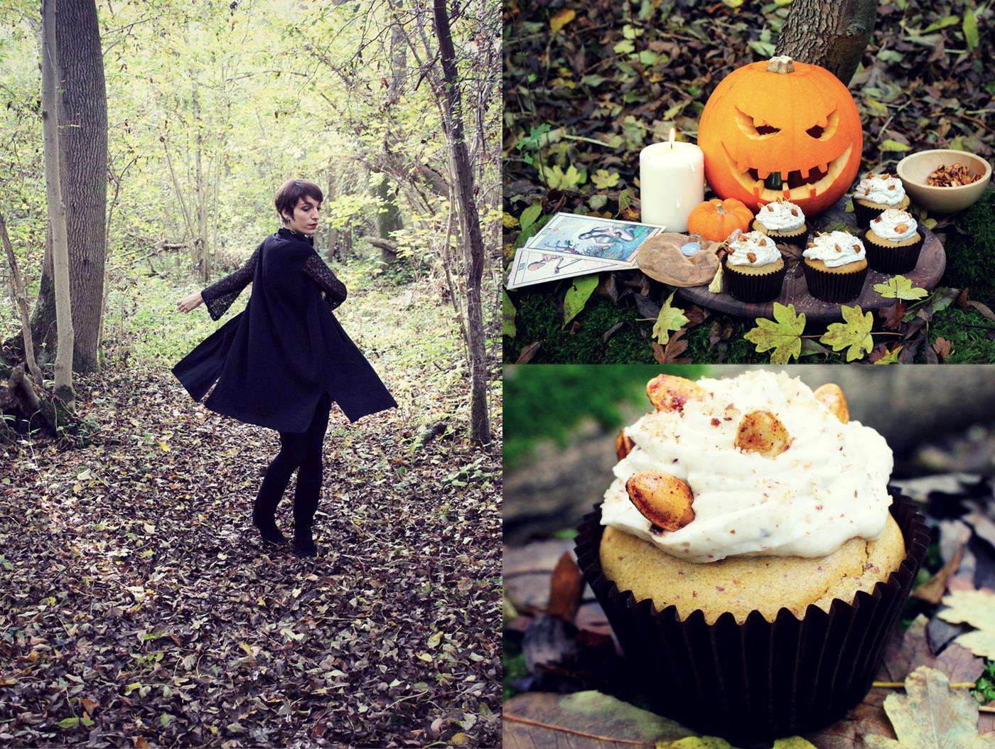 Cupcakes d'Halloween à la citrouille, noisette et sirop d'érable