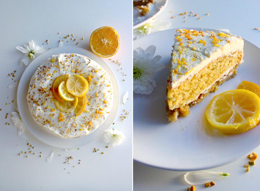 Gâteau à l'orange et crème de coco
