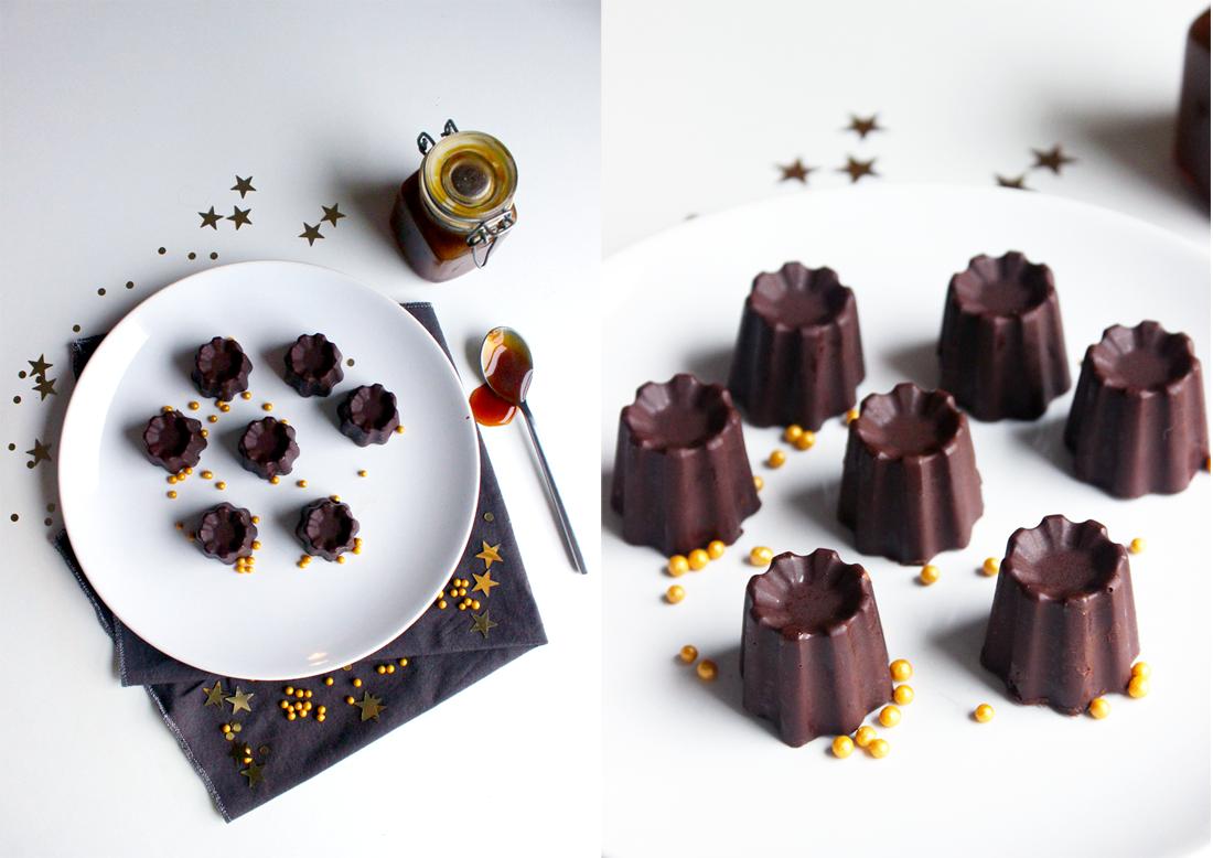 Chocolats fourrés au coulis de caramel