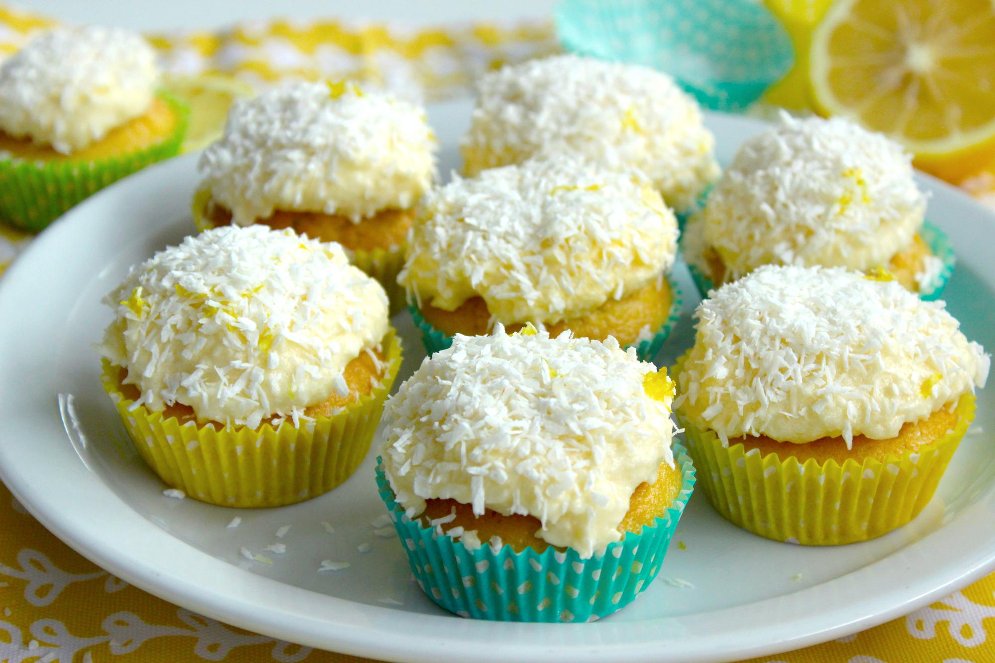 Cupcakes au Citron & à la Noix de coco