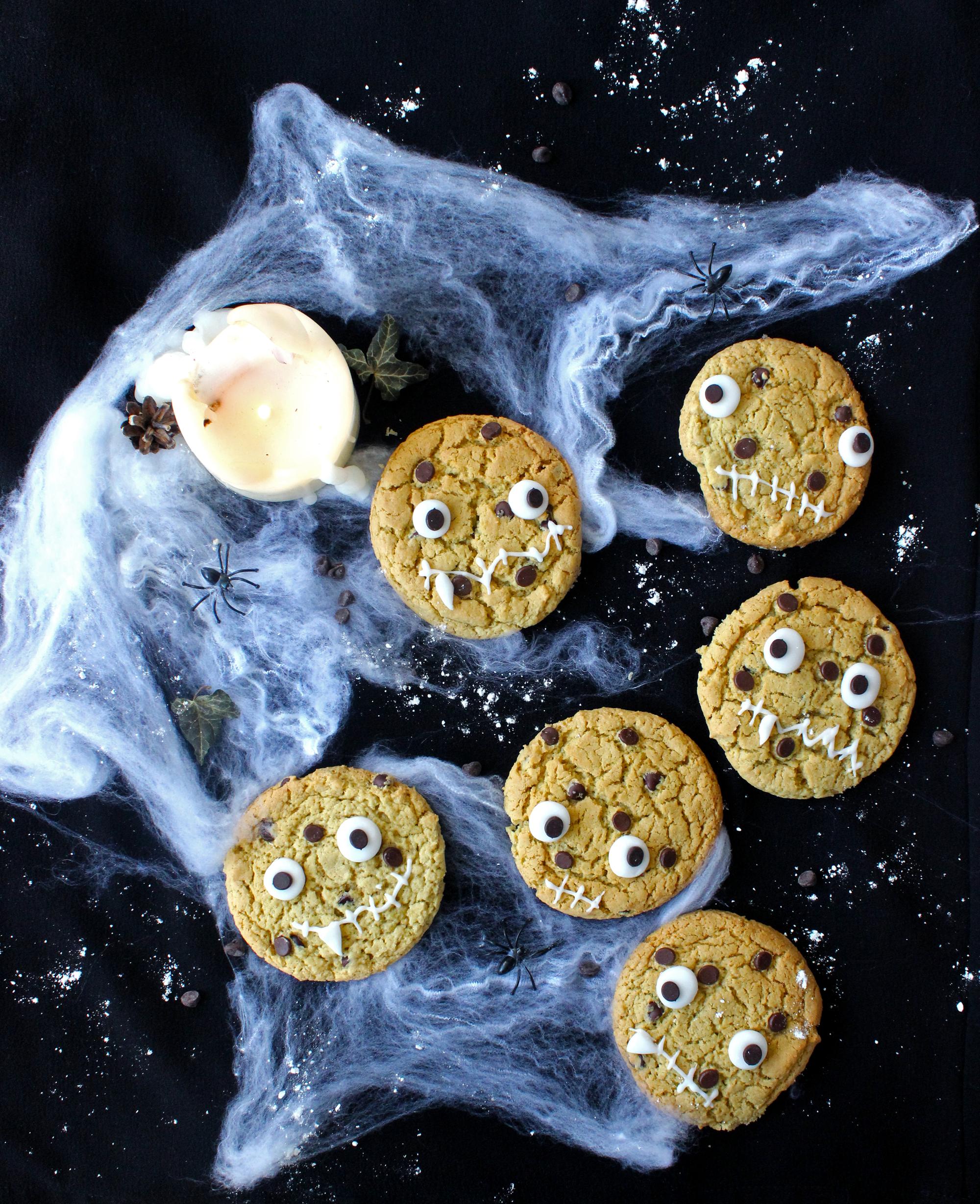 Cookies Monstres à la citrouille et aux pépites de chocolat