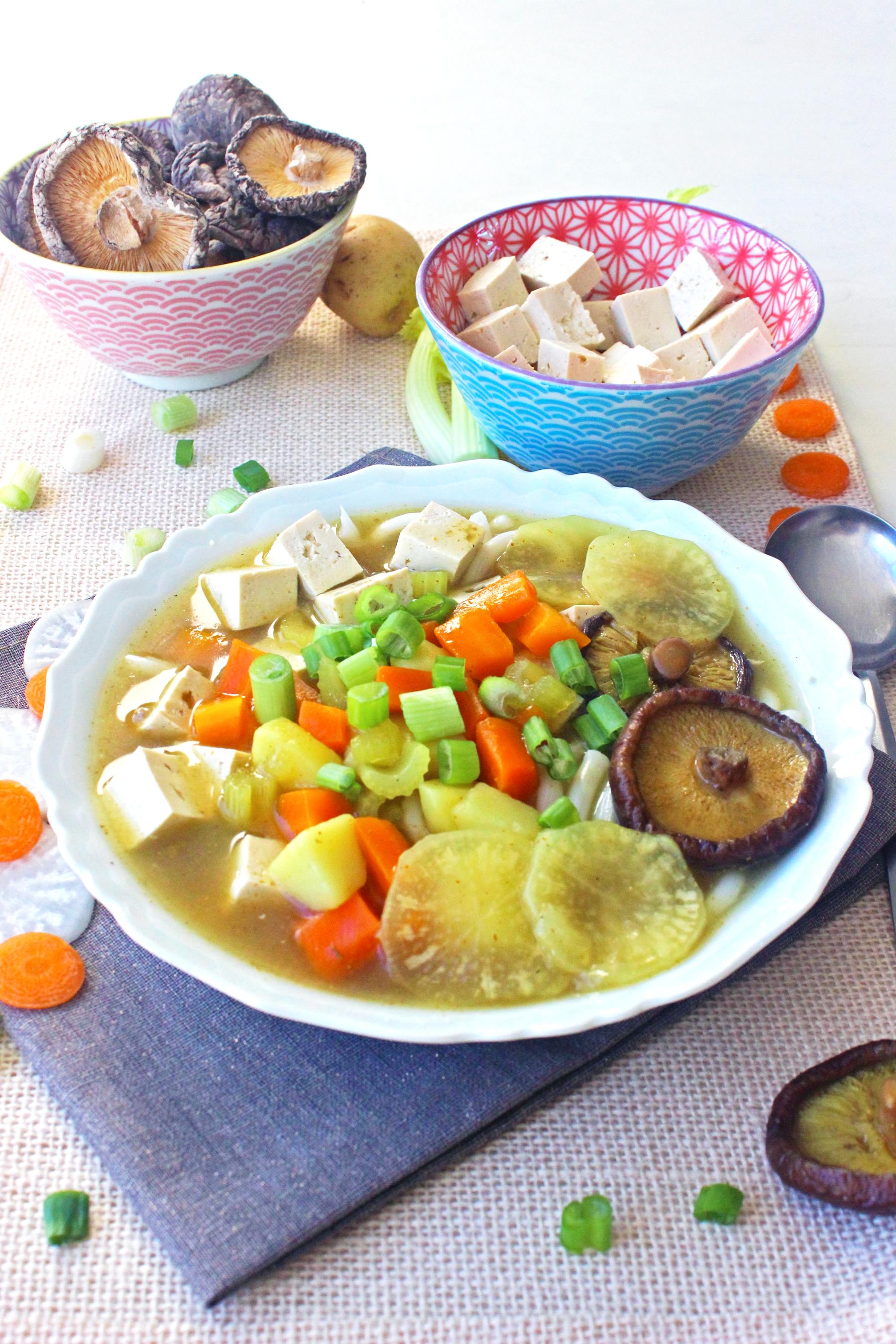 Soupe de Nouilles Udon au curry
