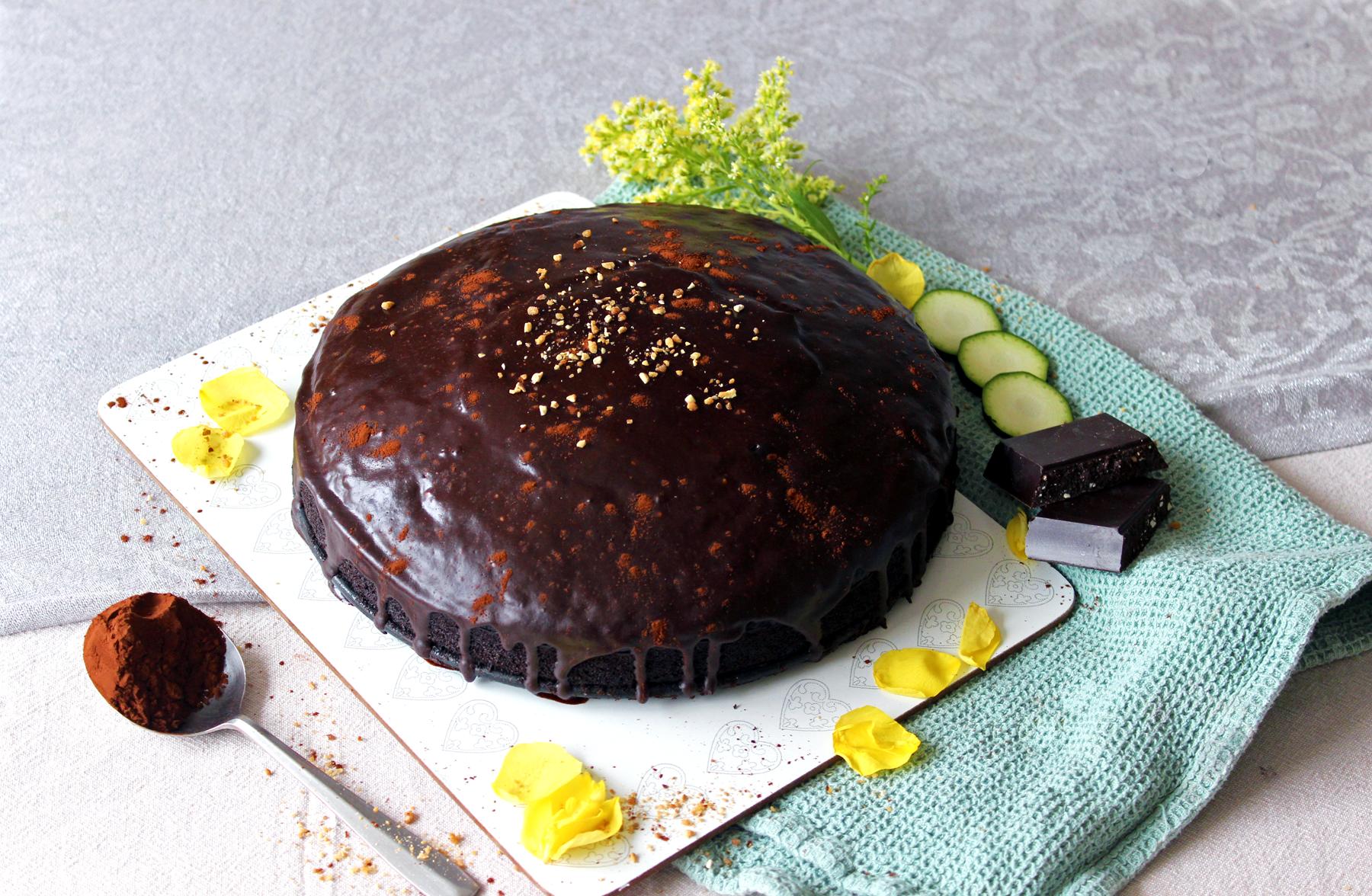 Gâteau très fondant au chocolat et à la courgette
