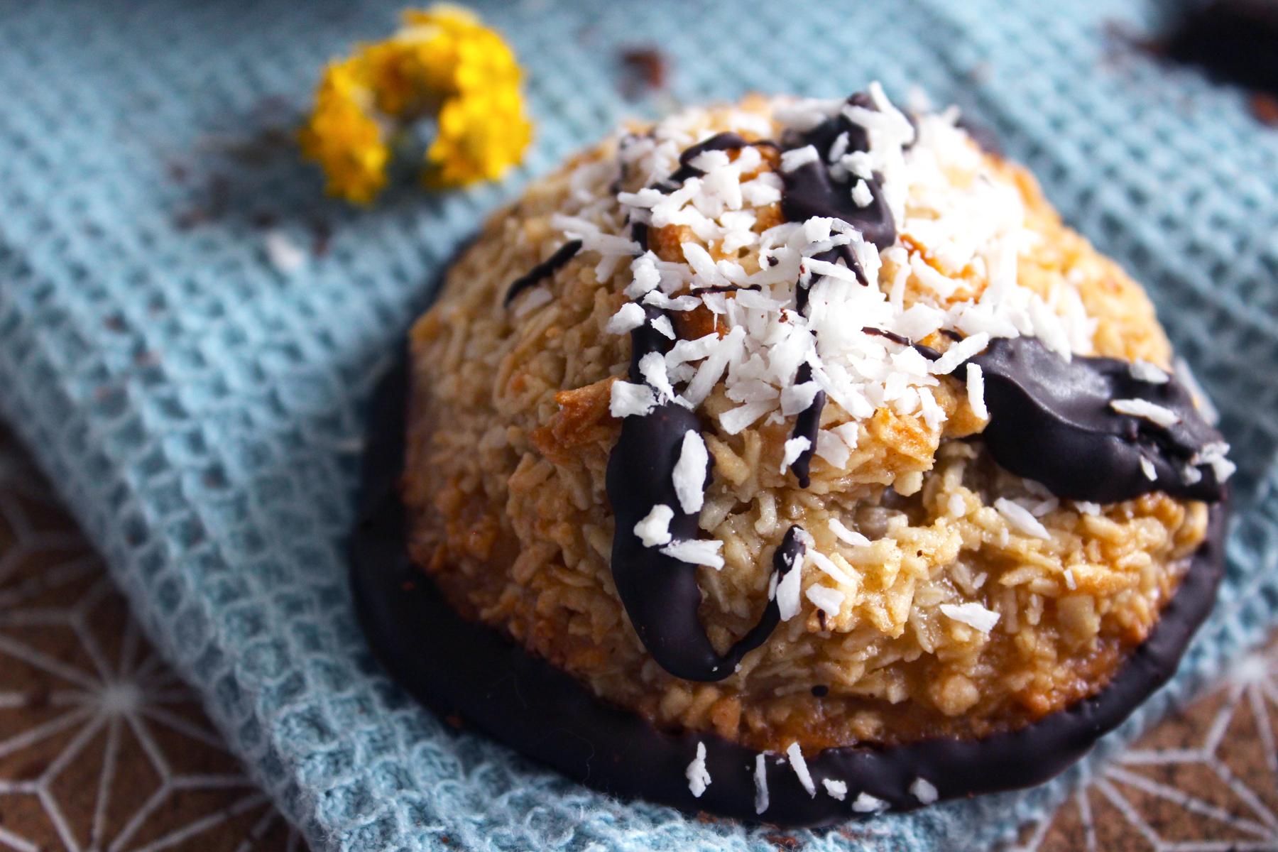 Macarons à la noix de coco et chocolat noir (vegan)
