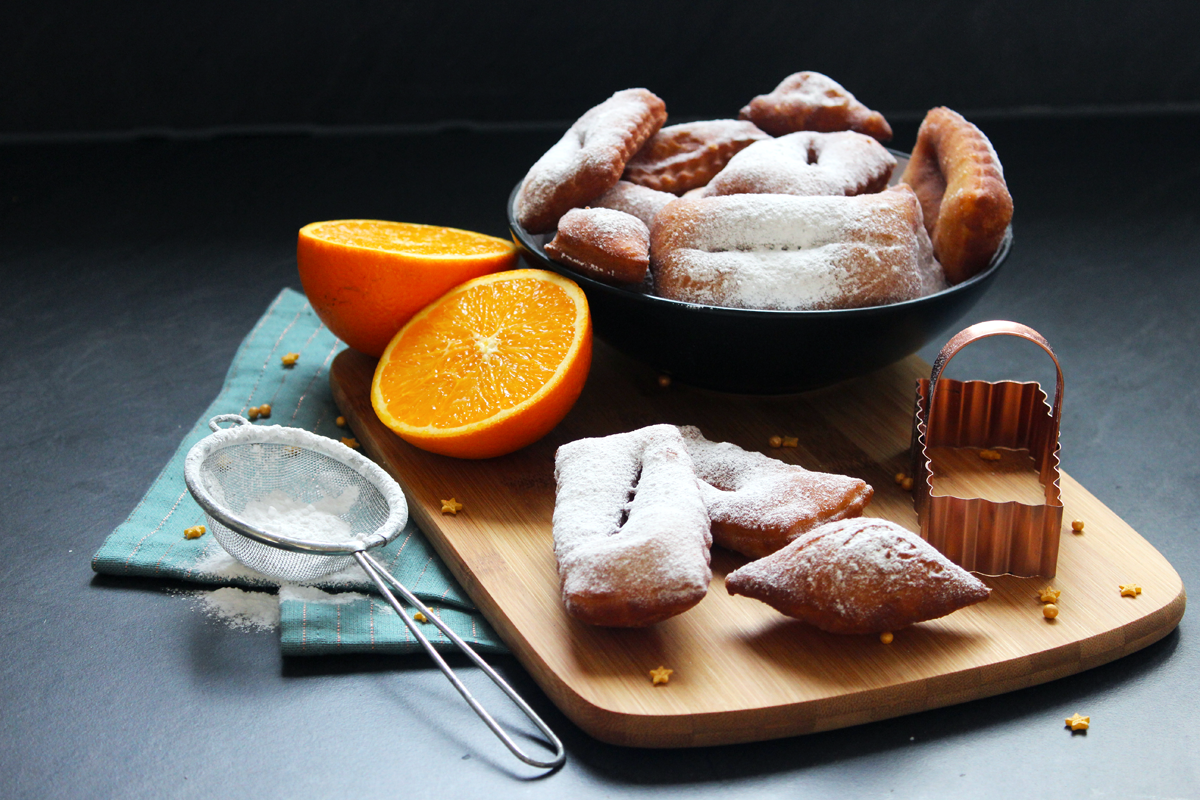 Beignets de carnaval à l'orange (vegan)