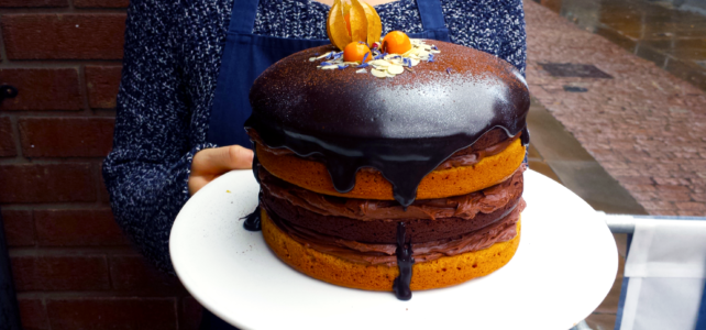 Naked Cake au chocolat, orange et butternut