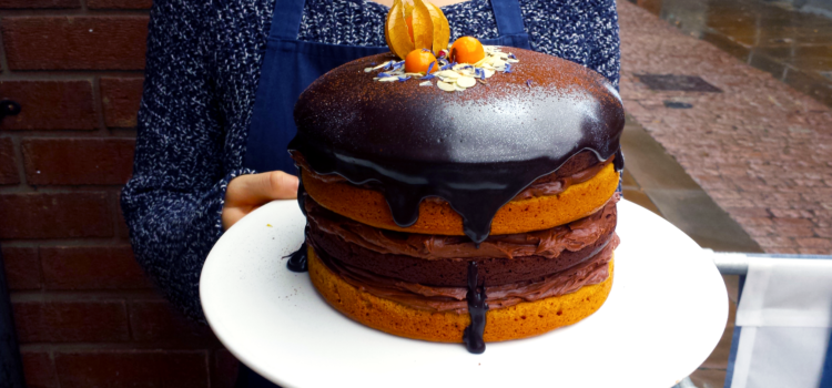 Naked Cake au chocolat, orange et butternut