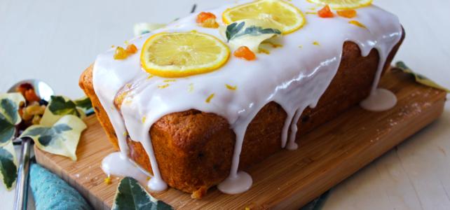 Cake au citron et fruits secs (vegan)