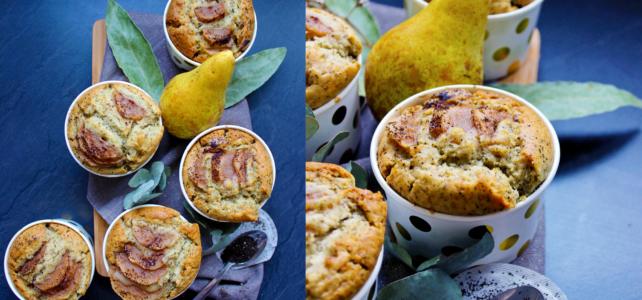 Muffins aux poires et au thé earl grey (vegan)
