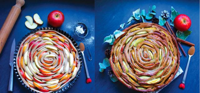 Brioche spirale aux pommes et à la cannelle (vegan)