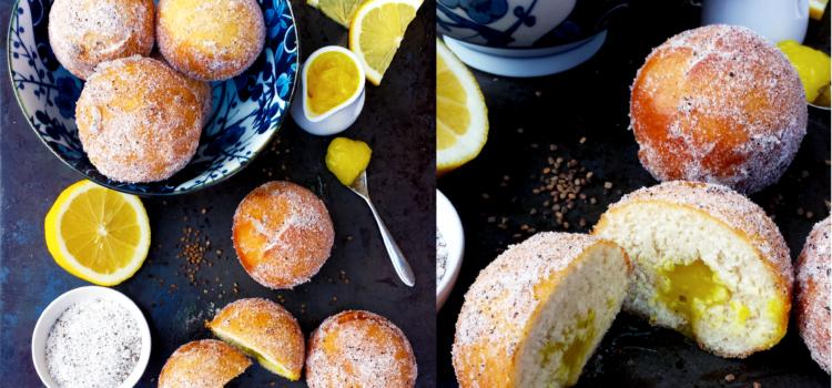 Doughnuts à la crème de citron et cardamome (vegan)
