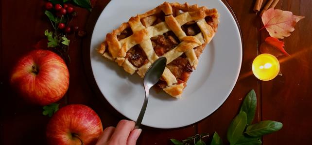 Tarte rustique aux poires, pommes, cranberries et sirop d'érable