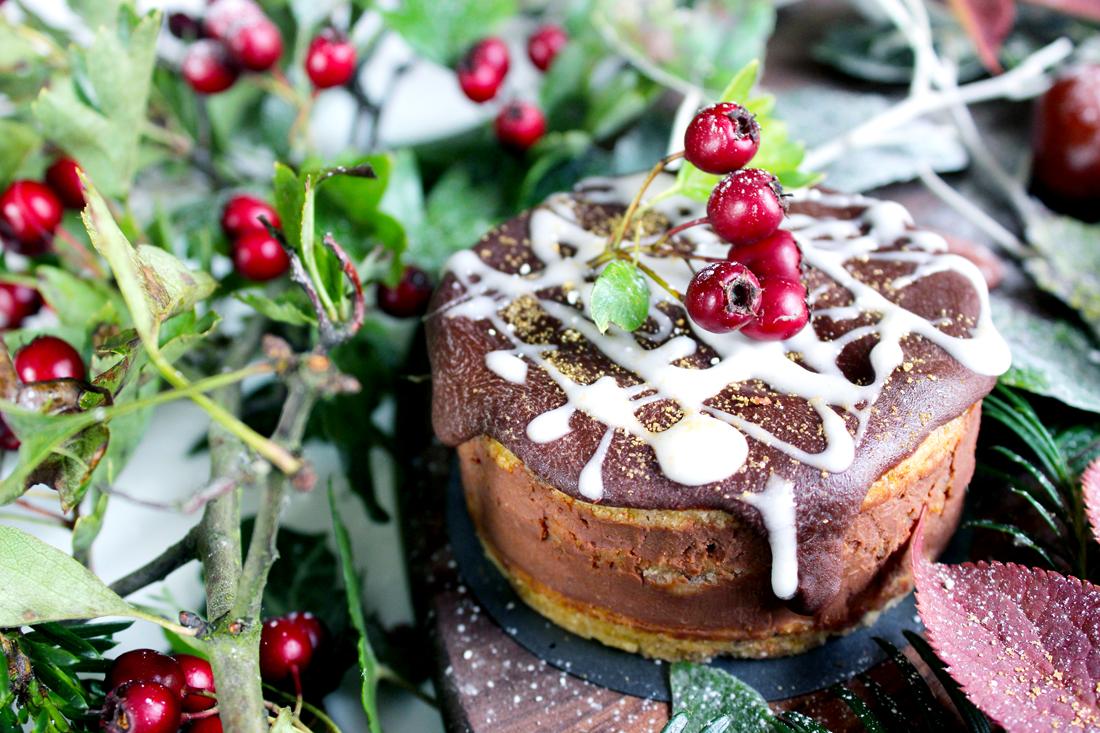 Petits Naked Cakes au chocolat, gingembre et épices de Noël