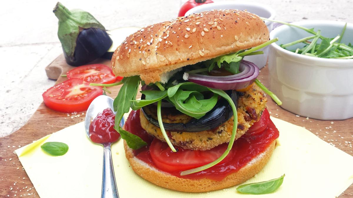 Burger de tofu aux légumes du soleil