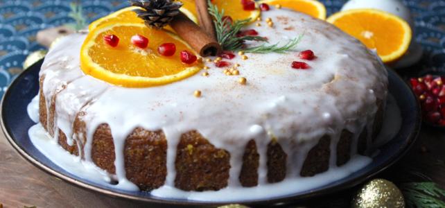 Gâteau glacée à la polenta et à l'orange
