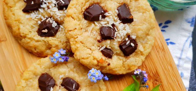 Cookies coco et pépites de chocolat